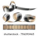 film tape twisted reels for... | Shutterstock .eps vector #796393465