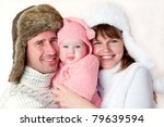 happy young couple  dressed in... | Shutterstock . vector #79639594
