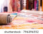 image of colorful wool carpets... | Shutterstock . vector #796396552