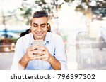 young indian office worker... | Shutterstock . vector #796397302