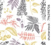 vector background with hand... | Shutterstock .eps vector #796398706