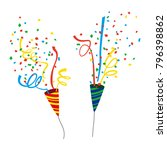 party crackers on white... | Shutterstock .eps vector #796398862