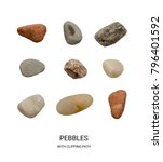 collection of colorful pebbles... | Shutterstock . vector #796401592