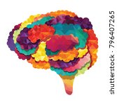 colorful vector brain... | Shutterstock .eps vector #796407265