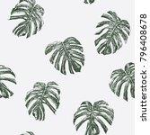 tropical plant leaves vector... | Shutterstock .eps vector #796408678