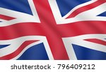 realistic waving flag of... | Shutterstock .eps vector #796409212