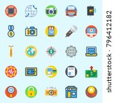 icons set about digital... | Shutterstock .eps vector #796412182