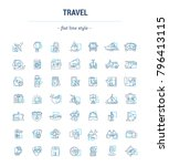 graphic set. icons in flat ... | Shutterstock . vector #796413115