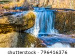 Autumn Waterfall Stream In...