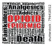 opioid crisis word cloud...   Shutterstock .eps vector #796418512
