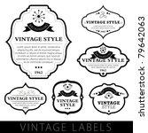 Stock vector vintage labels 79642063
