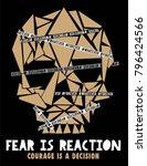fear skull vector graphic | Shutterstock .eps vector #796424566