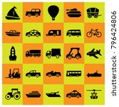 transport icon set vector. tank ... | Shutterstock .eps vector #796424806