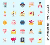 icons set about wedding. with... | Shutterstock .eps vector #796426186