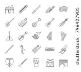 musical instruments linear...   Shutterstock .eps vector #796427905