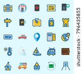 icons set about travel. with... | Shutterstock .eps vector #796435855