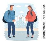 vector cartoon illustration of... | Shutterstock .eps vector #796438255