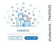 romantic concept  couple in... | Shutterstock .eps vector #796455652