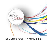 abstract colorful circle banner ... | Shutterstock .eps vector #79645681