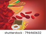 fast food which high fat... | Shutterstock .eps vector #796460632
