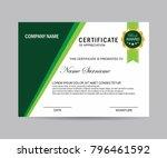 modern certificate vector | Shutterstock .eps vector #796461592