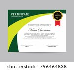 modern certificate vector | Shutterstock .eps vector #796464838