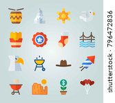 icon set about united states.