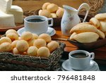 cheese bread with coffee | Shutterstock . vector #796481848