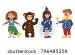 children dressed in carnival...   Shutterstock .eps vector #796485358