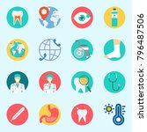 icons set about medical. with... | Shutterstock .eps vector #796487506