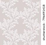 damask pattern vector ornament... | Shutterstock .eps vector #796491418