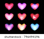 beauty unusual hearts... | Shutterstock .eps vector #796494196