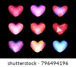 beauty unusual hearts... | Shutterstock .eps vector #796494196