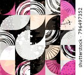 abstract background pattern ... | Shutterstock .eps vector #796497352