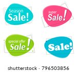 set flat linear colored... | Shutterstock .eps vector #796503856