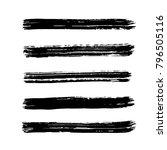 brush stroke set. texture. | Shutterstock .eps vector #796505116