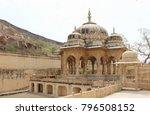 ancient domes and columns in... | Shutterstock . vector #796508152