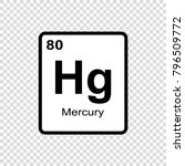 mercury chemical element. sign... | Shutterstock .eps vector #796509772