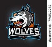 wolves ultimate team. modern... | Shutterstock .eps vector #796512292