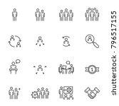 human resources  management... | Shutterstock .eps vector #796517155
