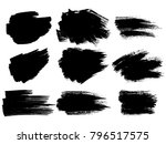painted grunge stripes set.... | Shutterstock .eps vector #796517575