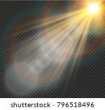 vector transparent sunlight... | Shutterstock .eps vector #796518496
