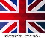 great britain flag vector... | Shutterstock .eps vector #796520272