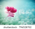 happy valentines day design... | Shutterstock .eps vector #796528702