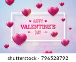 valentines day design with red... | Shutterstock .eps vector #796528792