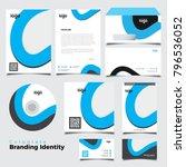 blue corporate identity... | Shutterstock .eps vector #796536052