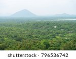 hilly rural landscape view from ... | Shutterstock . vector #796536742