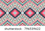 indian embroidery. geometric... | Shutterstock .eps vector #796539622