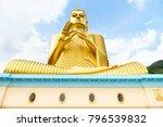 big golden buddha statue in... | Shutterstock . vector #796539832