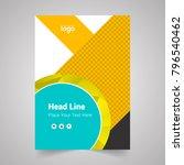 brochure design template vector.... | Shutterstock .eps vector #796540462